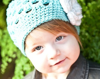 Crochet Girls Hat / Girls Beanie / Hats For Girls / Baby Girl Hat / Toddler Crochet Hat / Girls Hat / Girls Winter Hat / Crochet Baby Hat