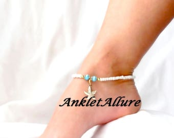 Beach Ankle Bracelet Anklet Gold Anklet Starfish Ankle Bracelet GUARANTEED Anklets for Women