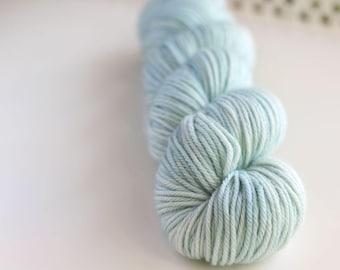 hand dyed yarn - MORNING - Fern Worsted Yarn - Superwash Merino