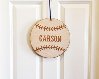 Baseball Personalized Door Sign, Kid bedroom door sign, Child bedroom door sign, personalized door sign, man cave sign