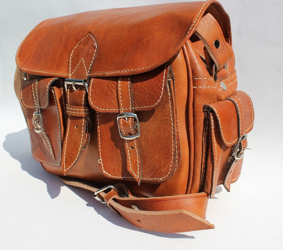 Leather camera bag Messenger Bags, Leather satchel, leather messenger bag, camera bag
