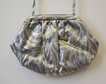 1970s Metallic Swirl Purse