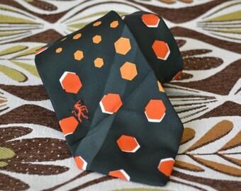 1970s Bronzini Hexagon Necktie