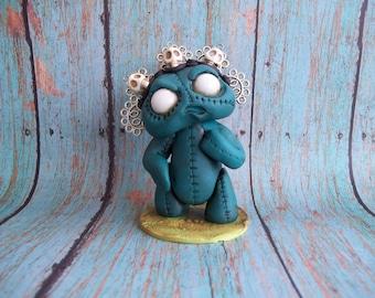 Dead Eye Dolly Diana,original art,polymer clay sculpture,covington creations,ooak,collectible figurine