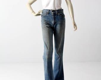 1970s Levis 646 jeans, vintage Levis flare leg, 28 x 32