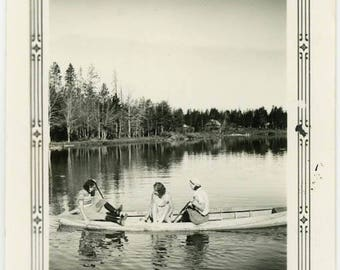 "Vintage Photo ""The Yesterday Lake"" Snapshot Antique Black & White Photograph Found Paper Ephemera Vernacular Interior Design Mood - 71"