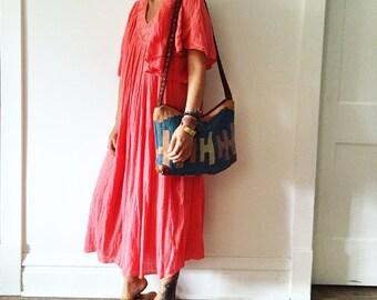 Vintage Turkish Kilim Bag, Ethnic Carpet Purse , Kilim Cross Body Bag