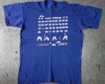 Space Invaders t shirt-vintage 1981-genuine original