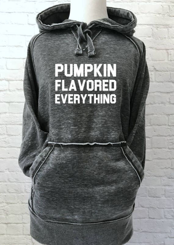 Pumpkin Flavored Everything Hoodie Thick Warm Super Soft Sweatshirt for Fall Dark Smoke