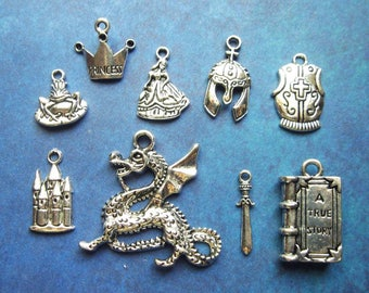 Fairy Tale Charm Collection in Silver Tone - C1828