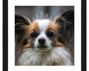 FRAMED Custom Pet Portrait - Doodle PHYSICAL PRINT
