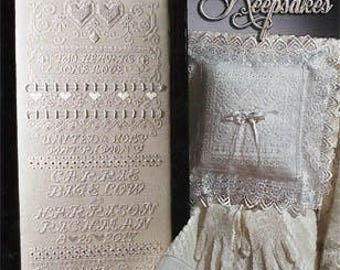 NEW Wedding Keepsakes cross stitch patterns by Stoney Creek at thecottageneedle.com sampler gift marriage married anniversary