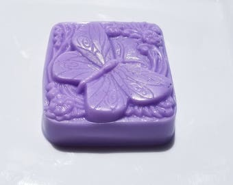 Butterfly Soap, Choose Your Scent, Purple Butterflies Soap, Gift for Her, Homemade Bar Soap Lavender, Lilac, Grape, Heather, Vanda Orchid