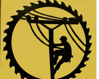 Lineman, Electrical Electric Linemen, high-powered electrical lines ,Business,Metal Art
