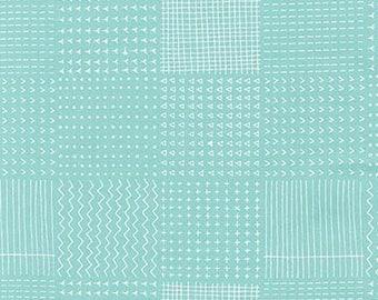 Blueberry Park Rough Patch in Aqua, Karen Lewis Textiles, Robert Kaufman Fabrics, 100% Cotton Fabric, AWI-15751-70 AQUA
