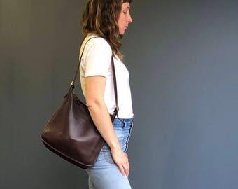 COACH 9073 Andrea Slim Shoulder Bag Brown Leather Andrea Slim Handbag Purse