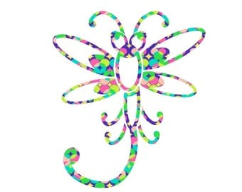 Dragonfly Decal, Dragonfly Sticker, Custom Decal, Vinyl Decal, MacBook Decal, Yeti Decal, Car Decal, Pattern Vinyl Decal, RTIC Decal
