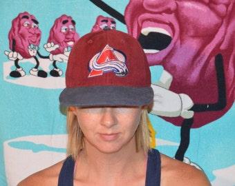 Vintage 1990's Colorado Avalanche Hat!!! Retro NHL Avs Snapback!!!