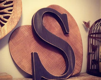 Giant Wooden Letter - S - Times Roman Font, 50cm high, 20 inch, any colour, wall letter, wall decor - various colours & finishes