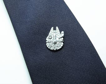 Star Wars Millennium Falcon Tie Tack or Lapel pin Mens Accessories Handmade