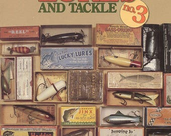 Old fishing lures etsy for Antique fishing reels price guide