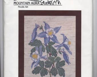 Blue Columbine Counted Cross-Stitch Kit