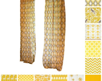 Modern Curtains- Pair of Drapery Panels- Corn Yellow Curtains- Window Drapes- Yellow Cafe Curtains- Grommet Add On- Custom Curtains- Shade