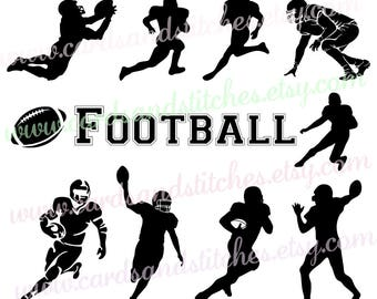 Football SVG - Football Silhouettes - Football Players SVG - Digital Cutting File - Cricut Cut - Instant Download - Svg, Dxf, Jpg, Eps, Png