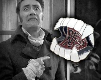 "PDB ""Bleh"" Fangs Soft Enamel Pin Badge"