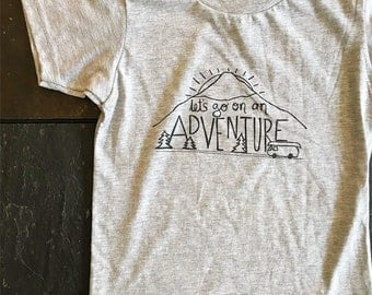 Kids Adventure T-shirt  - 2, 4, 6, 8, 10 - Camping, road trip, mountains, outdoors