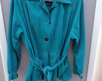 Alfred Paquette 1950's Green Thin Corduroy Jacket