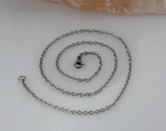 """Stainless Steel Chain 32""""- Stainless Steel Chain Add-on- 2.5mm Stainless Steel Chain- Necklace Chain- Stainless Steel Necklace Chain"""