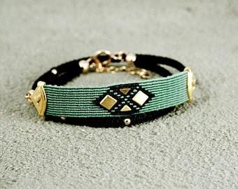 Hand Woven Urban wrap Bracelet,trendy jewelry,Stacking Jewelry,Unique Jewelry,street style Fashion,stack bracelets,geometric bracelets,chic