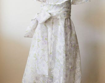 Sheer Floral Sundress | Purple Daisy Floral Dress | Bohemian Chic Elegant Vintage Style Sundress | Bohemian Wedding Bridesmaids Dress