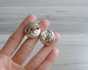10-25% OFF Code In Shop - Vintage 50's 60's Lisner Round Gold Swirl Screw Back Earrings