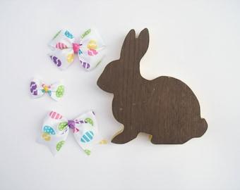Easter Egg Hair Bows - Easter Headbands - Spring Hair Bows