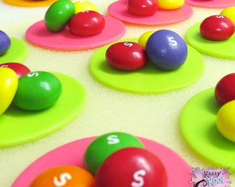 Skittles Candy Cupcake Toppers
