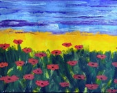 "Handmade ""Poppies"" Greeting Card"