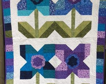 handmade quilt, Becca's bouquet