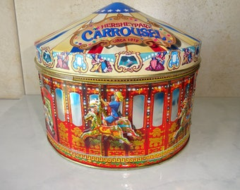 Vintage Tin Carousel Hershey Park Churchill's of London Carousel