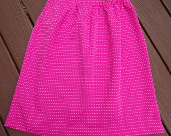 PINK POLKADOT 1960's SKIRT 60's pull-on xs S