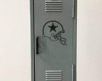 Vintage Dallas Cowboys Locker Bank /  Man Cave Decor / Coin Bank