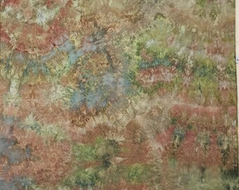 Hand Dyed Fabric, Ice Dyed Cotton Quilt Fabric, 2 1/2 Yards (LS) #56