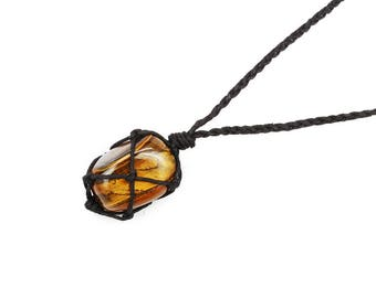 Tiger Eye Necklace, Tigers Eye Necklace, Solar Plexus Chakra Necklace, Healing Crystal Necklace, Stone Necklace, Capricorn Birthstone