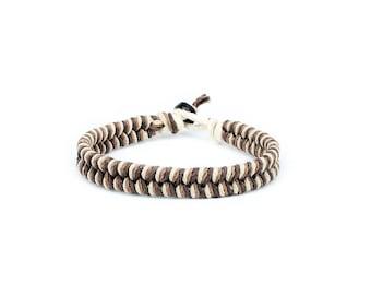 Thick Bracelet, Natural Bracelet, Hemp Bracelet, Mens Bracelet