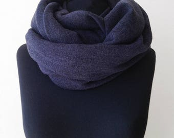 Scarves for women, knit scarf, gift for boyfriend, charcoal scarf, man scarves, gift for mom, gray scarf, circle scarf, winter scarf