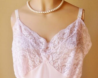 Lacy Pink Slip, Size 44 Average