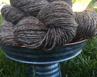 Brown/Cream Heather Shetland Yarn