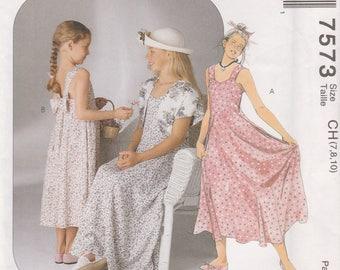 Girls Sun Dress & Bolero Pattern McCalls 7573 Sizes 7 8 10 Uncut