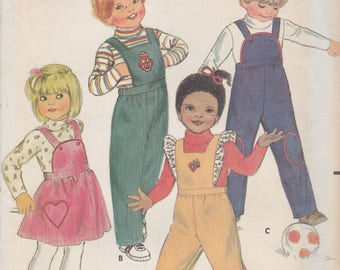 Toddlers Overalls or Jumper Pattern Butterick 3447 Size 1 Uncut